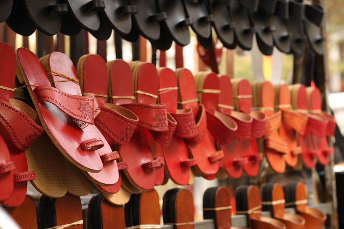 sandals in market
